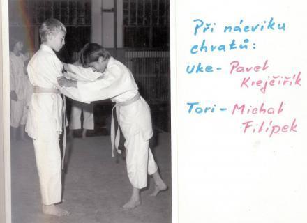 Při nácviku chvatů: Uke - Pavel Krejčiřík, Tori - Michal Filípek